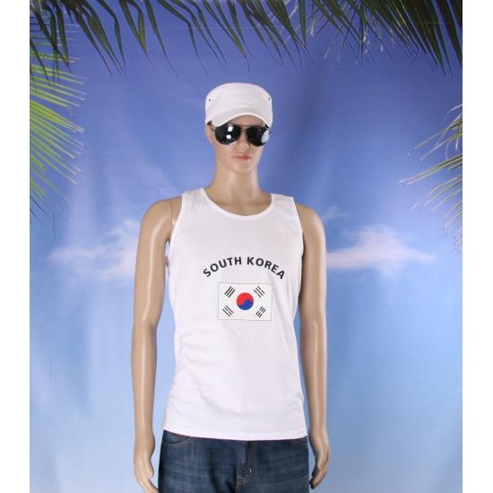 Tanktop met vlag Zuid Korea print