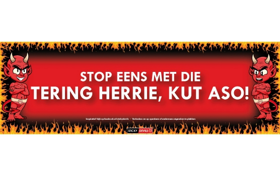 Tering herrie Sticky Devil sticker