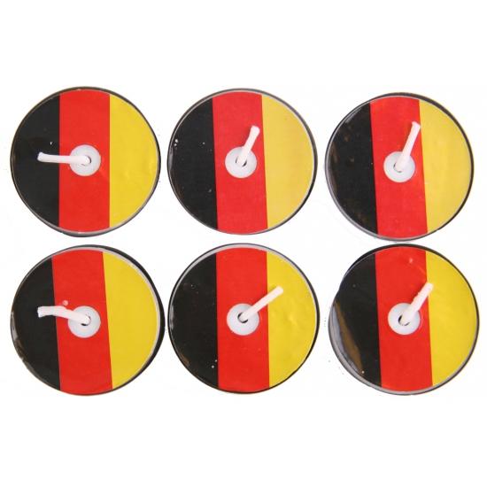 Theelichtjes geel rood zwart