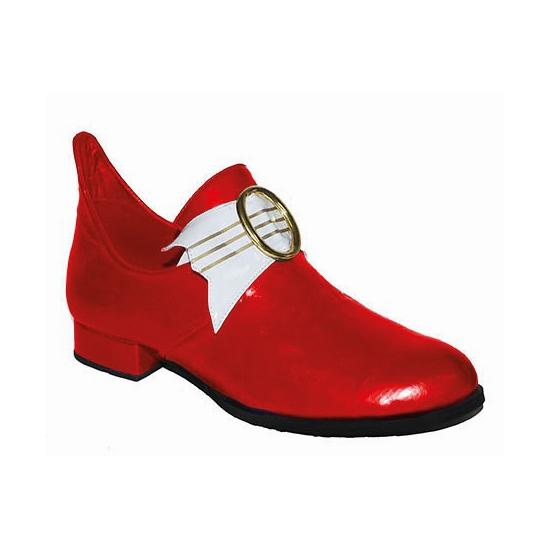 Thema middeleeuwen rode lage heren schoenen