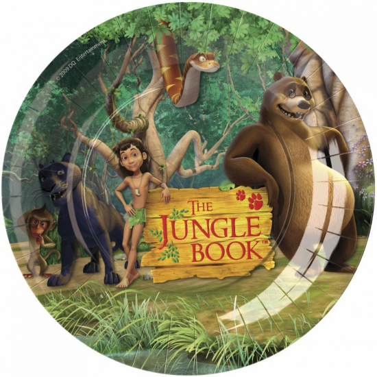 Themafeest Jungle Book bordjes 8 stuks