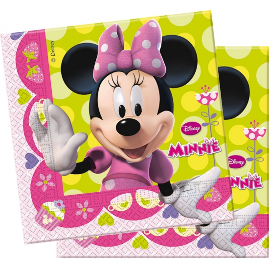 Themafeest Minnie Mouse servetten 20 stuks