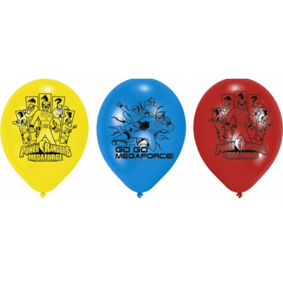 Themafeest Power Rangers ballonnen