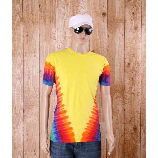 Tie dye Sixties shirt regenboog