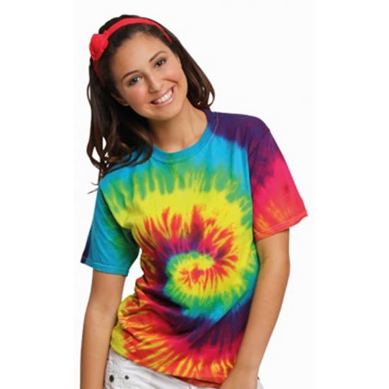 Tie dye t shirt regenboog