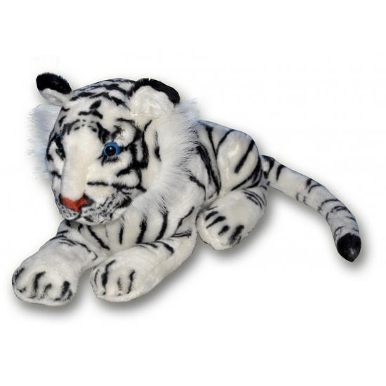 Tijger knuffel wit 36 cm