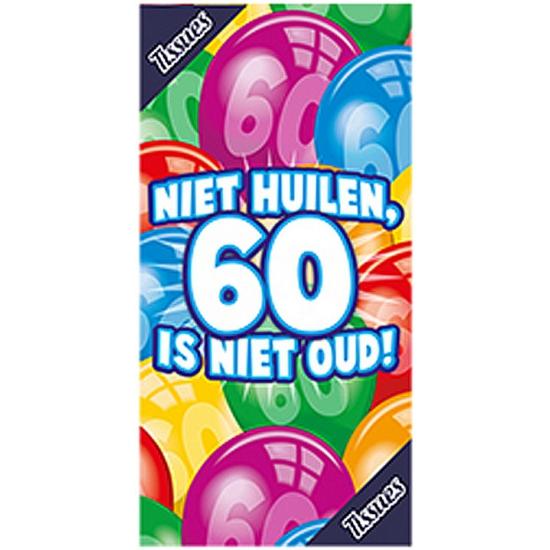 Tissuebox niet huilen, 60 is niet oud