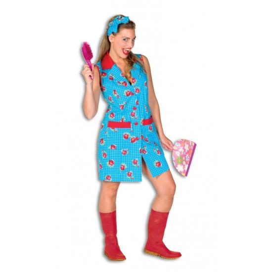 Toiletjuffrouw kostuum met bloemen