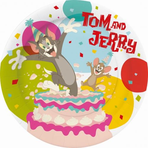 Tom en Jerry thema feest borden