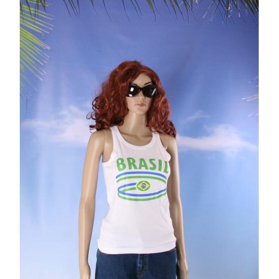 Top met vlaggen thema Brasil dames