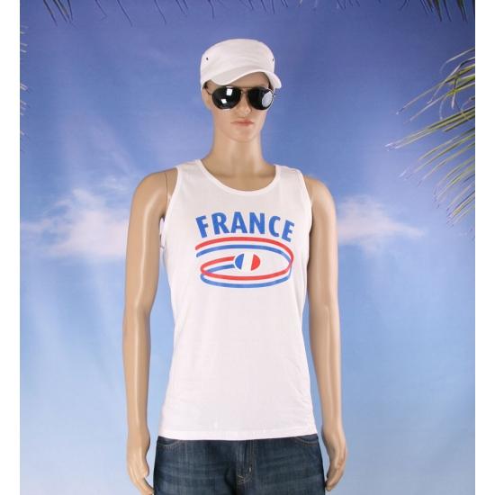 Top met vlaggen thema Frankrijk heren