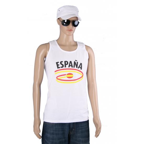 Top met vlaggen thema Spanje heren