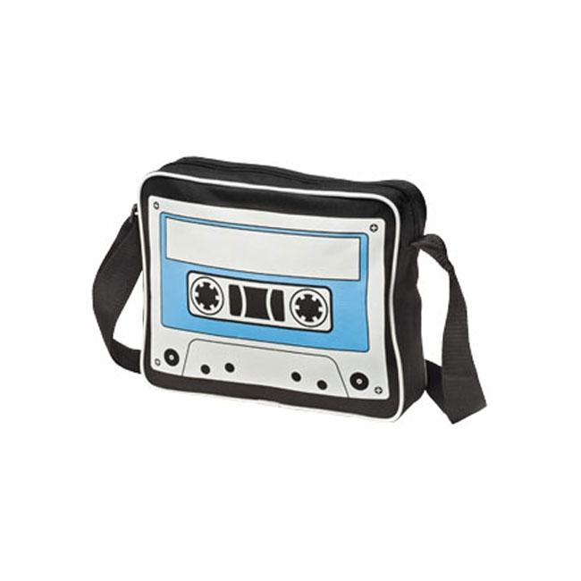 Trendy cassetteband tas zwart