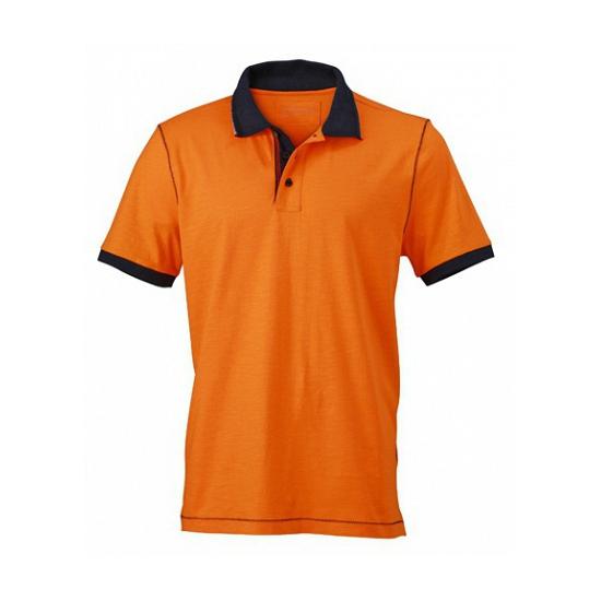 Trendy dames polo in het oranje