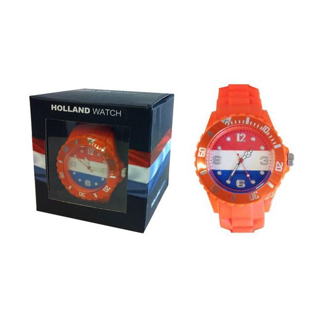 Trendy horloge oranje voor heren