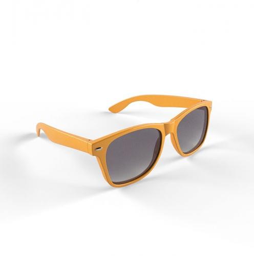 Trendy oranje montuur zonnebril