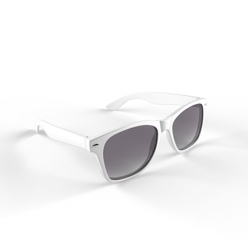Trendy wit montuur zonnebril