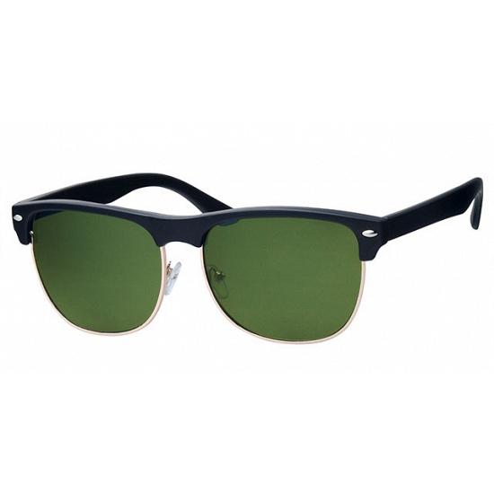 Trendy zwarte Clubmaster zonnebrillen