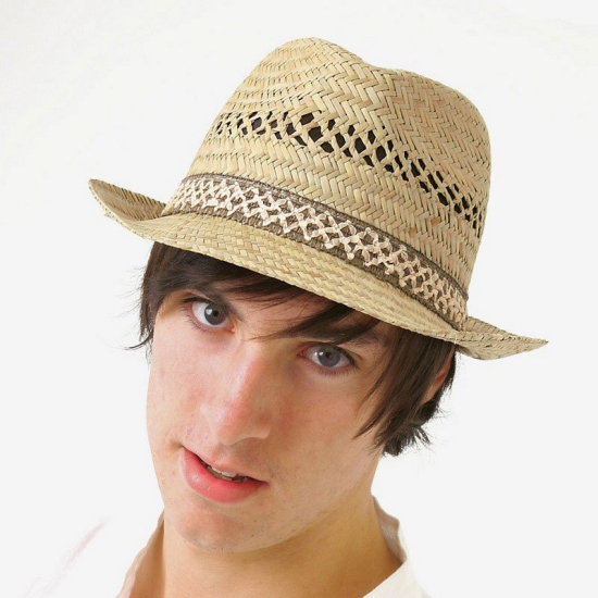 Trilby hoeden stro voor heren