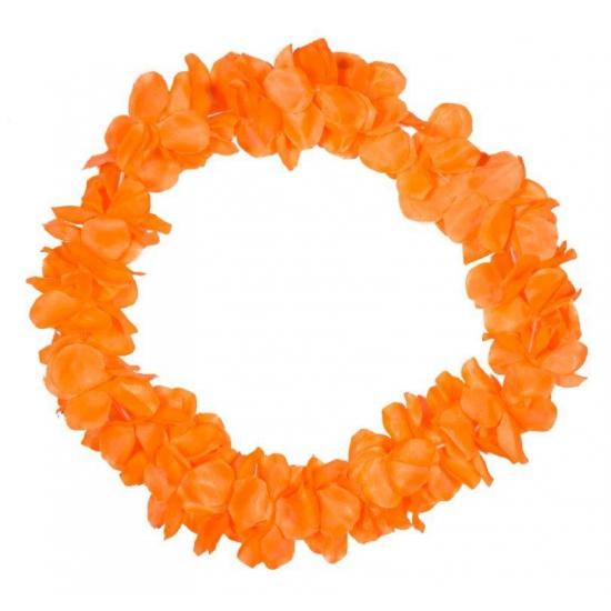 Tropical krans neon oranje