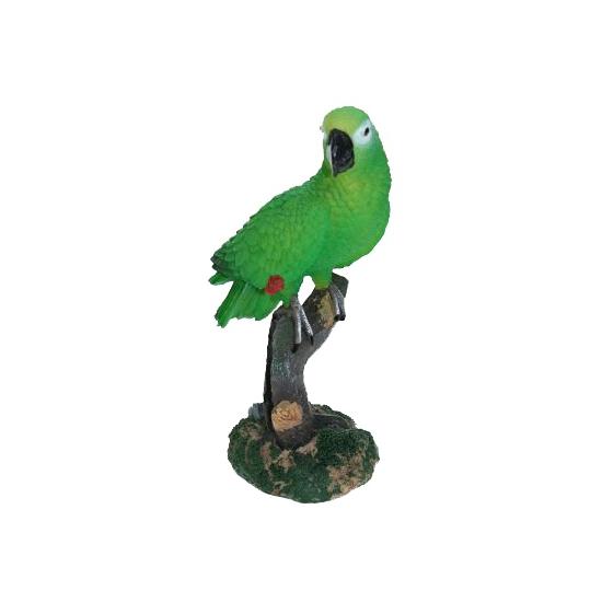 Tuin decoratie papegaai groen 20 cm