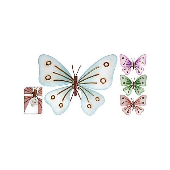 Tuin vlinder van metaal 32 cm