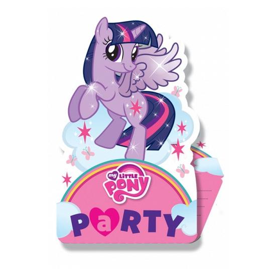 Uitnodigingen met My Little Pony plaatjes