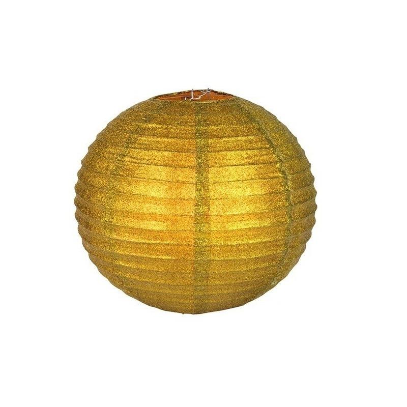Unieke gouden lampion met glitters