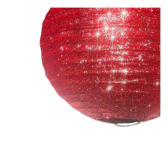 Unieke rode lampion met glitters