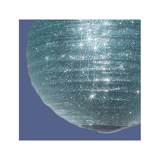 Unieke zilveren lampion met glitters