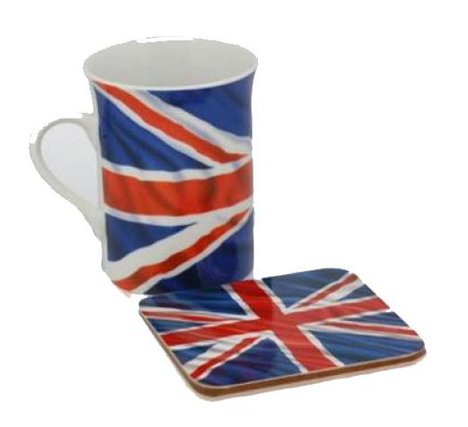 Union Jack drink set