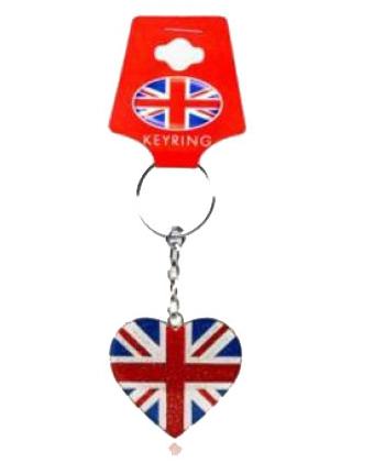 Union Jack hart sleutelhanger