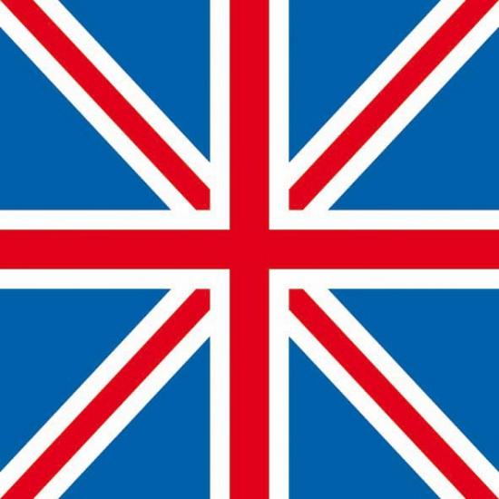 Union Jack vlag servet 20 stuks