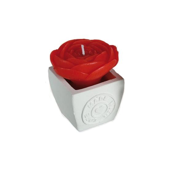 Valentijns kado rozen kaarsje rood