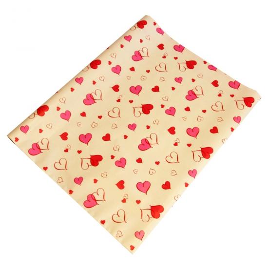 Valentijnsdag cadeaupapier roze harten