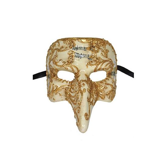 Venetiaans masker goud met halflange neus