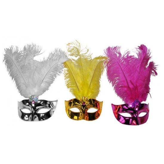 Venetiaans oogmasker met veren