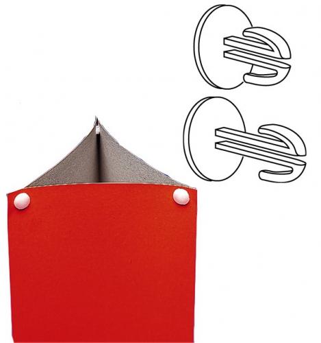 Verbinding stuk voor karton