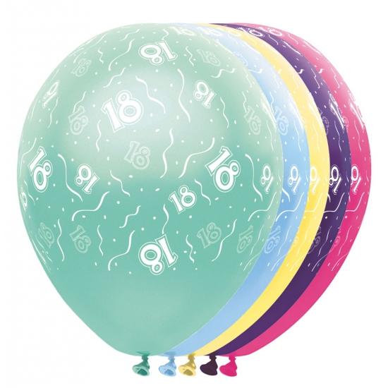 Verjaardag 18 jaar helium ballonnen