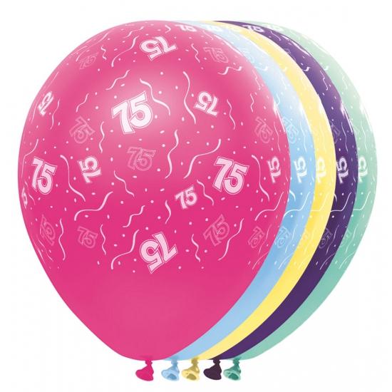 Verjaardag 75 jaar helium ballonnen