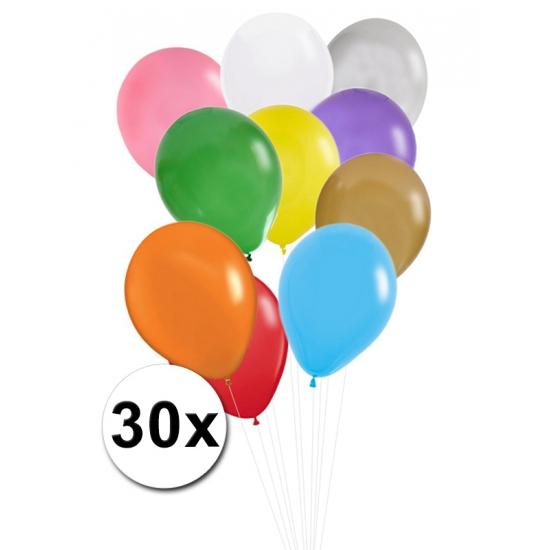 Verjaardag ballonnen gekleurd 30x