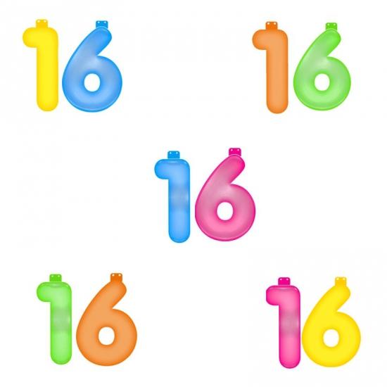 Verjaardag opblaascijfer 16