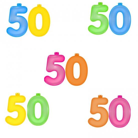 Verjaardag opblaascijfer 50