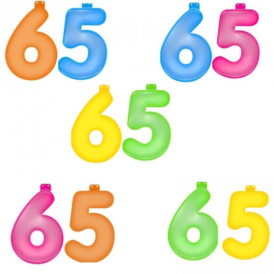 Verjaardag opblaascijfer 65