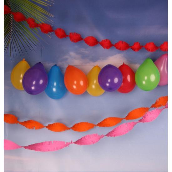 Verjaardag slingers en ballonnen