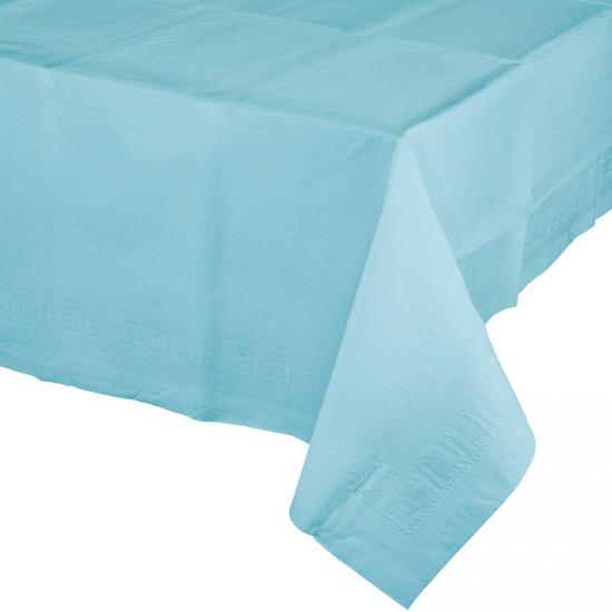 Verjaardag tafellaken lichtblauw