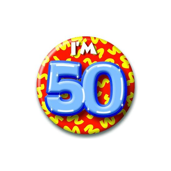 Verjaardags button I am 50