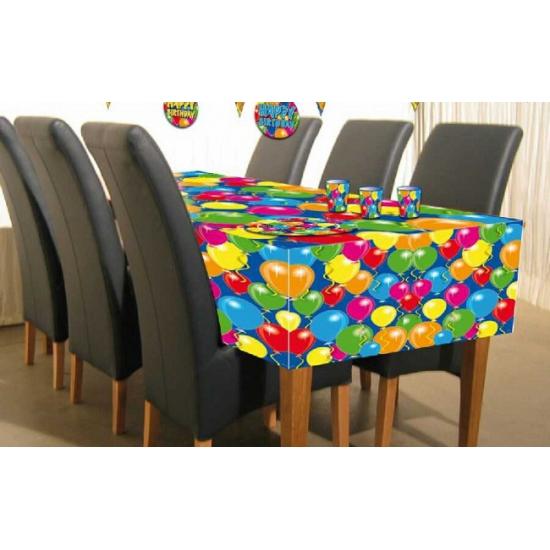 Verjaardags tafelkleed ballonnenprint