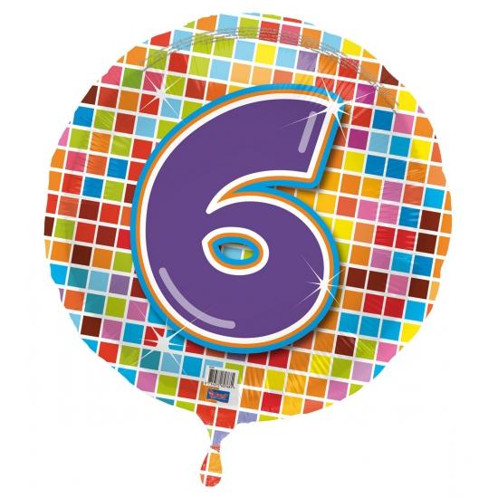 Verjaardagsballon 6 jaar helium