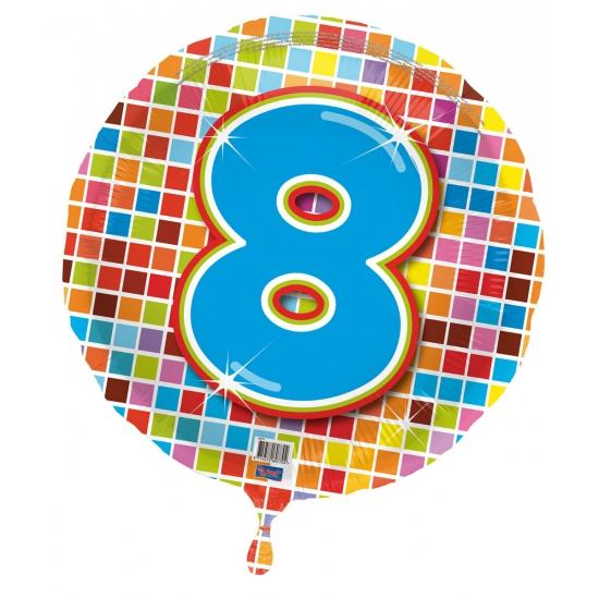 Verjaardagsballon 8 jaar helium